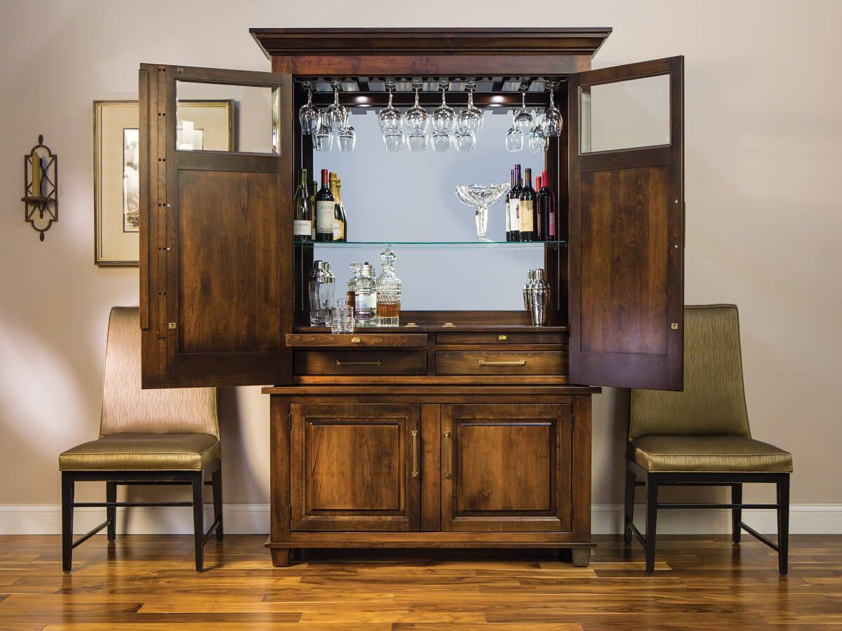 Amish Made Serving Bar Cabinet