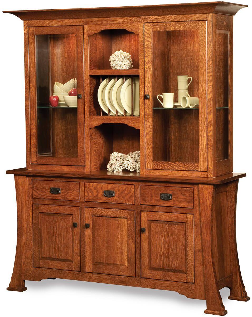 Custom Made Genoa Amish China Cabinet