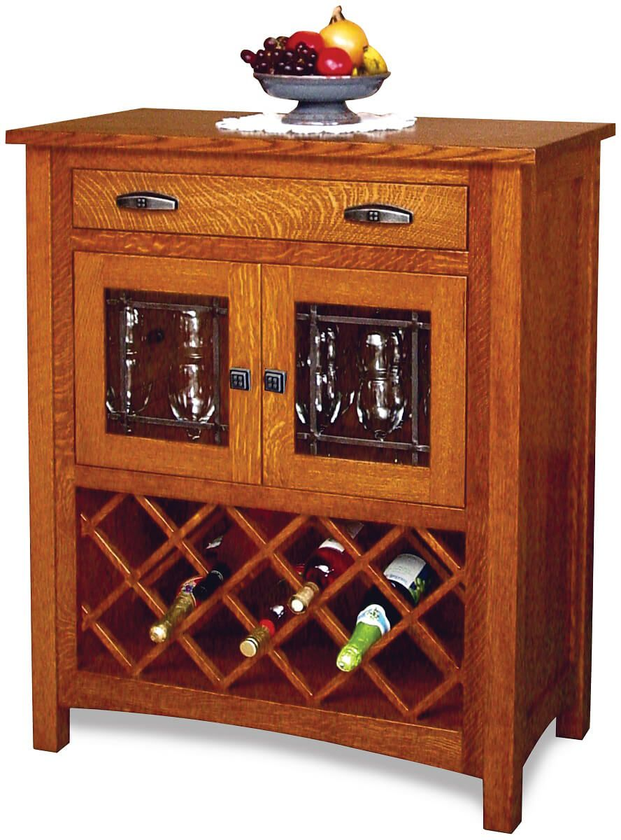 Hollowell Wine Rack Cabinet