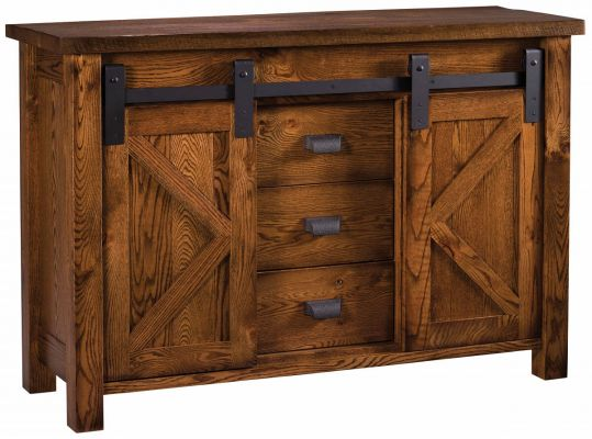 Calaveras Rustic Barn Door Buffet Countryside Amish Furniture