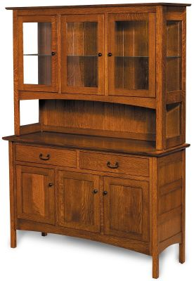 Atticus Mission China Hutch Countryside Amish Furniture