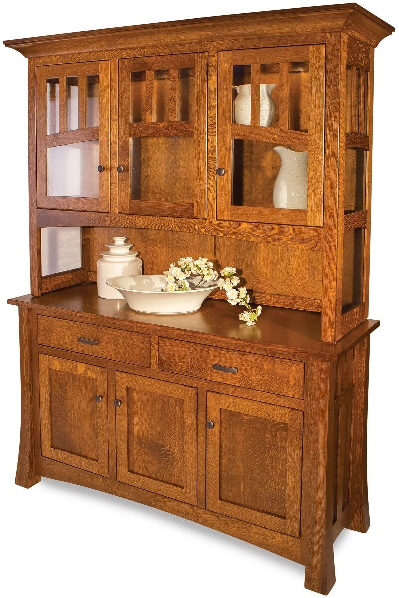 Quartersawn White Oak Buffet and Cabinet