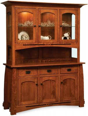 Sitka Craftsman China Hutch Countryside Amish Furniture