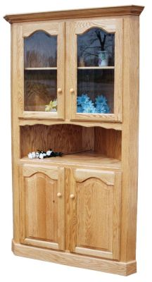 Belle Hearth Country Corner Hutch Countryside Amish Furniture