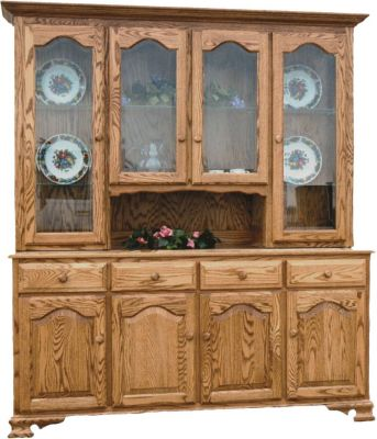 Belle Hearth Large Country Hutch in Oak
