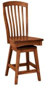 Piazza Wooden Swivel Barstool