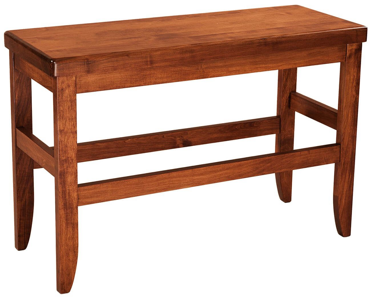 Sibbick Bar Height Kitchen Bench Countryside Amish Furniture