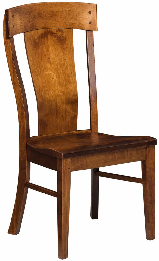 Brown Maple Dining Room Chair