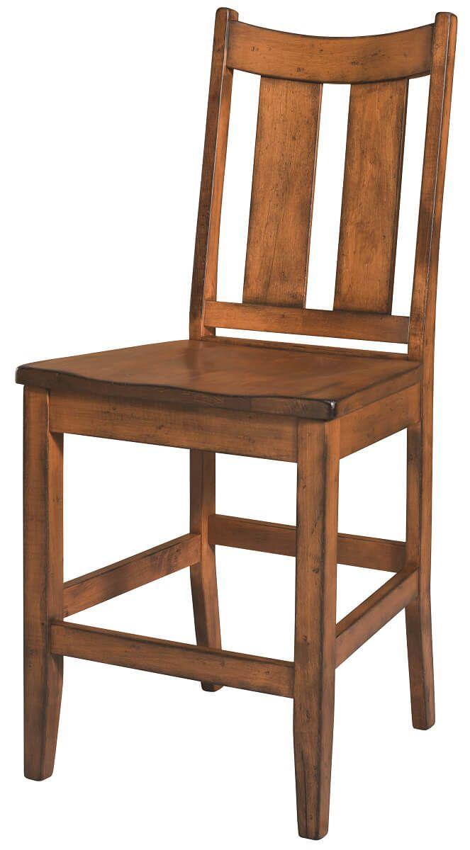 Brown Maple Bar Chair