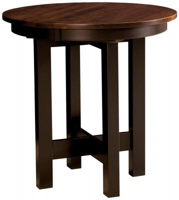 la rambla round wooden pub table countryside amish furniture. Black Bedroom Furniture Sets. Home Design Ideas