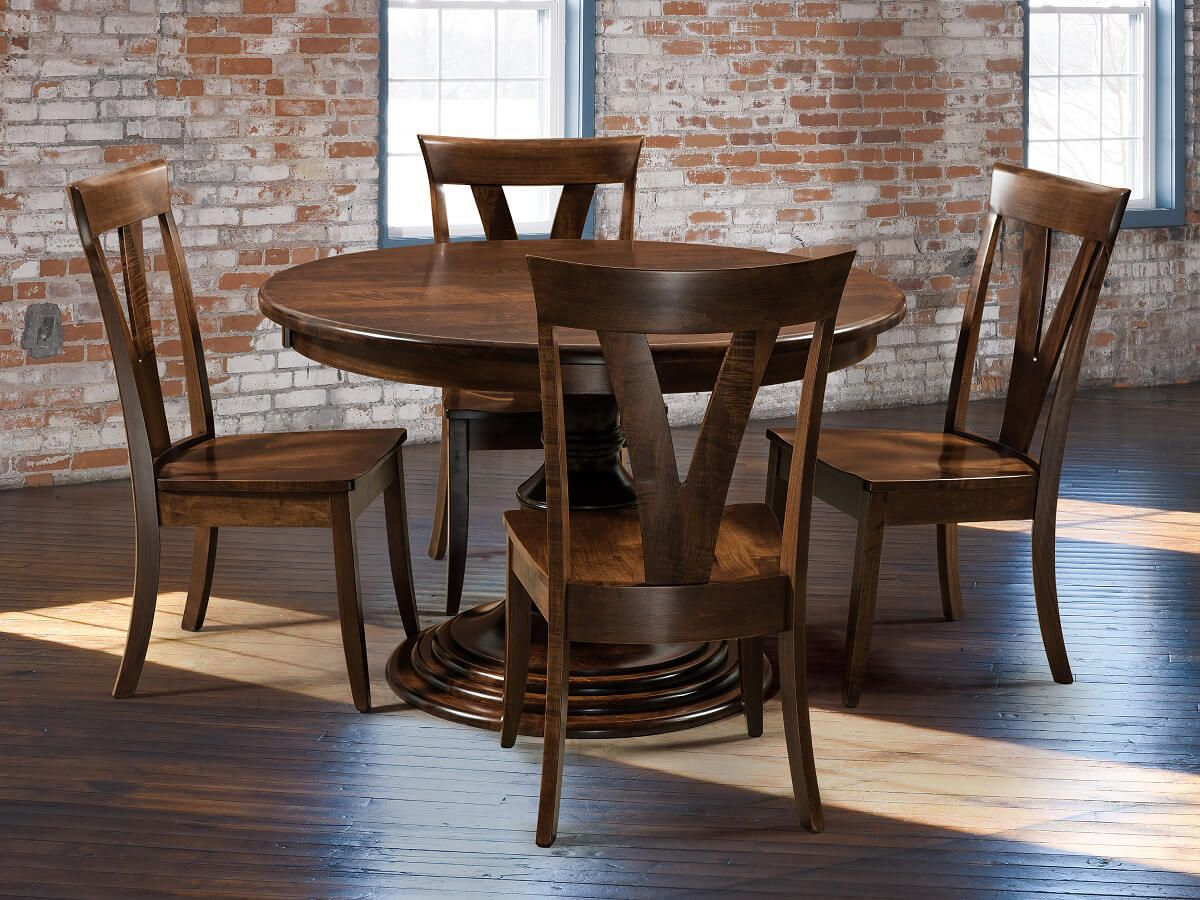 Paired with Plaza Modern Dining Chairs