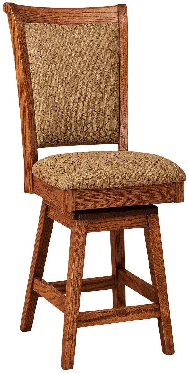Oak Swivel Bar Chair