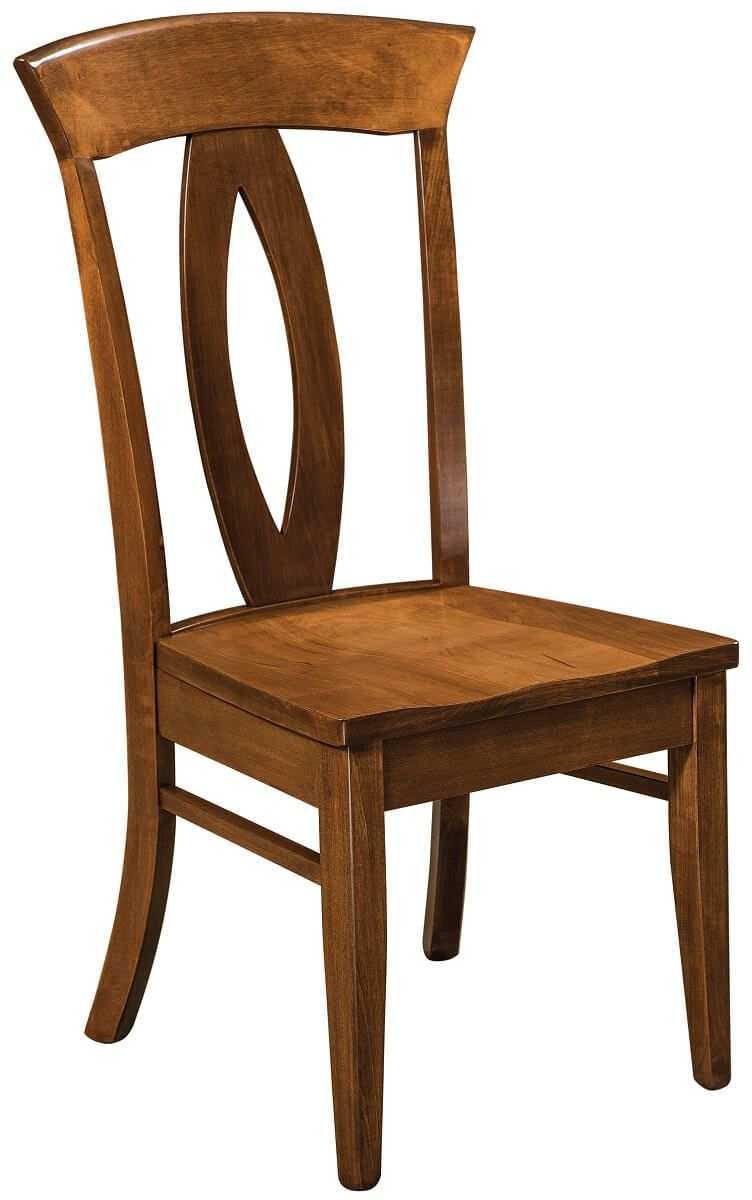 Amish Made Kitchen Chair with Wood Seat