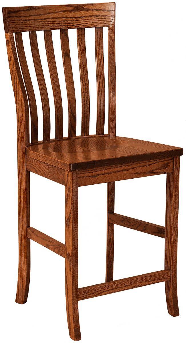 Clyde Hill Bar Chair in Oak