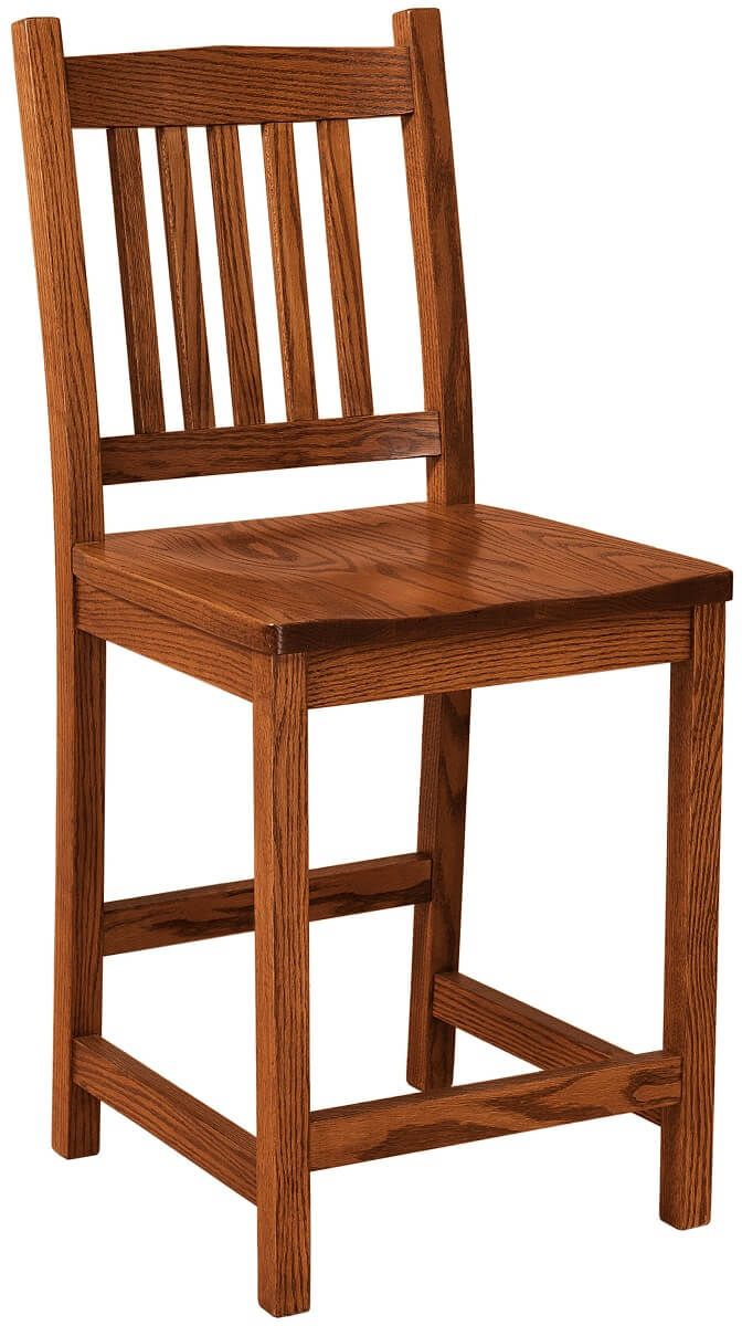 Oak Mission Bar Chair