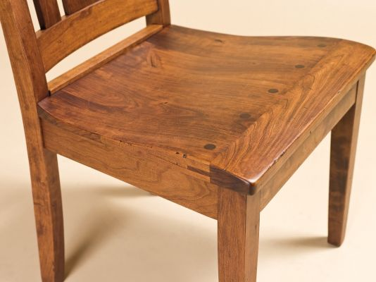 Breadboard End Cherry Chair Seat