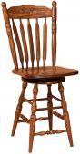 Finn Press Back Swivel Barstool