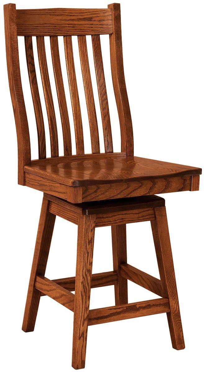 Flintridge Swivel Bar Chair in Oak