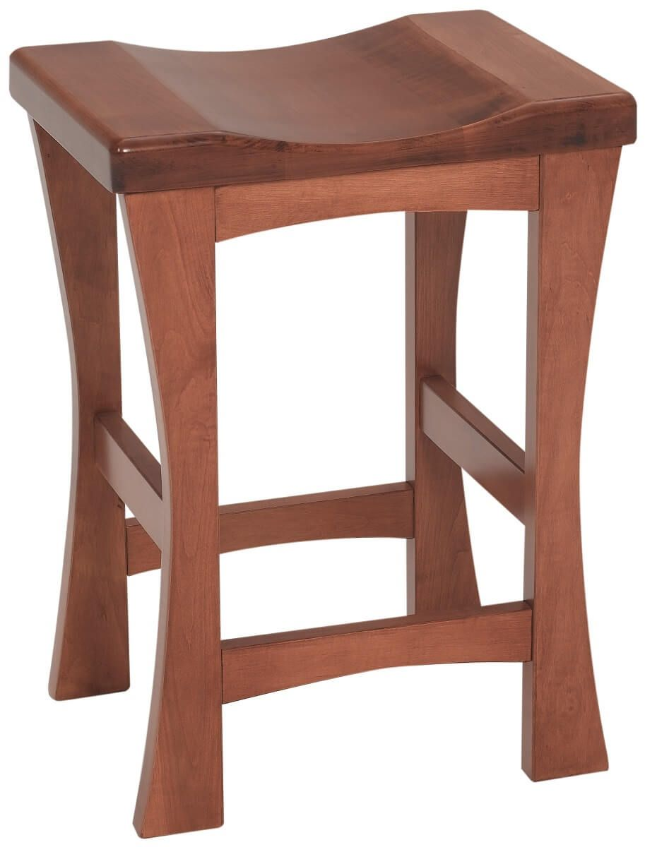 Cherry Backless Pub Stool
