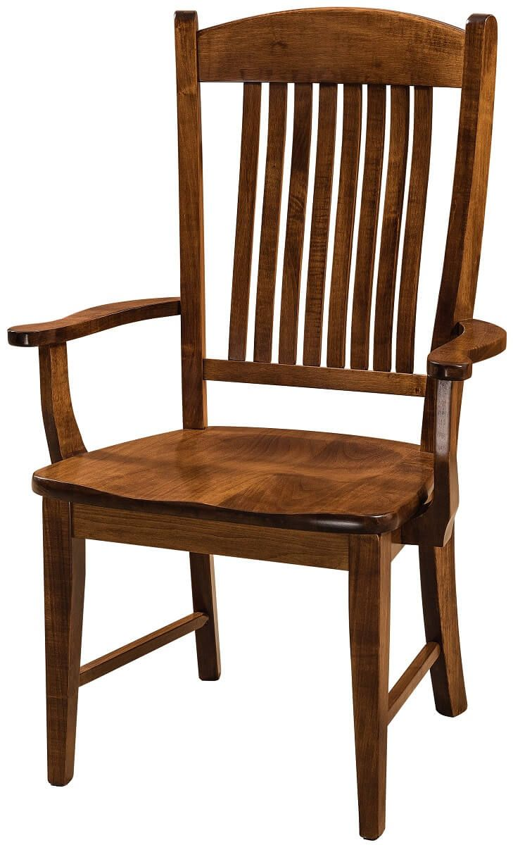Keaton Amish Arm Chair in Brown Maple