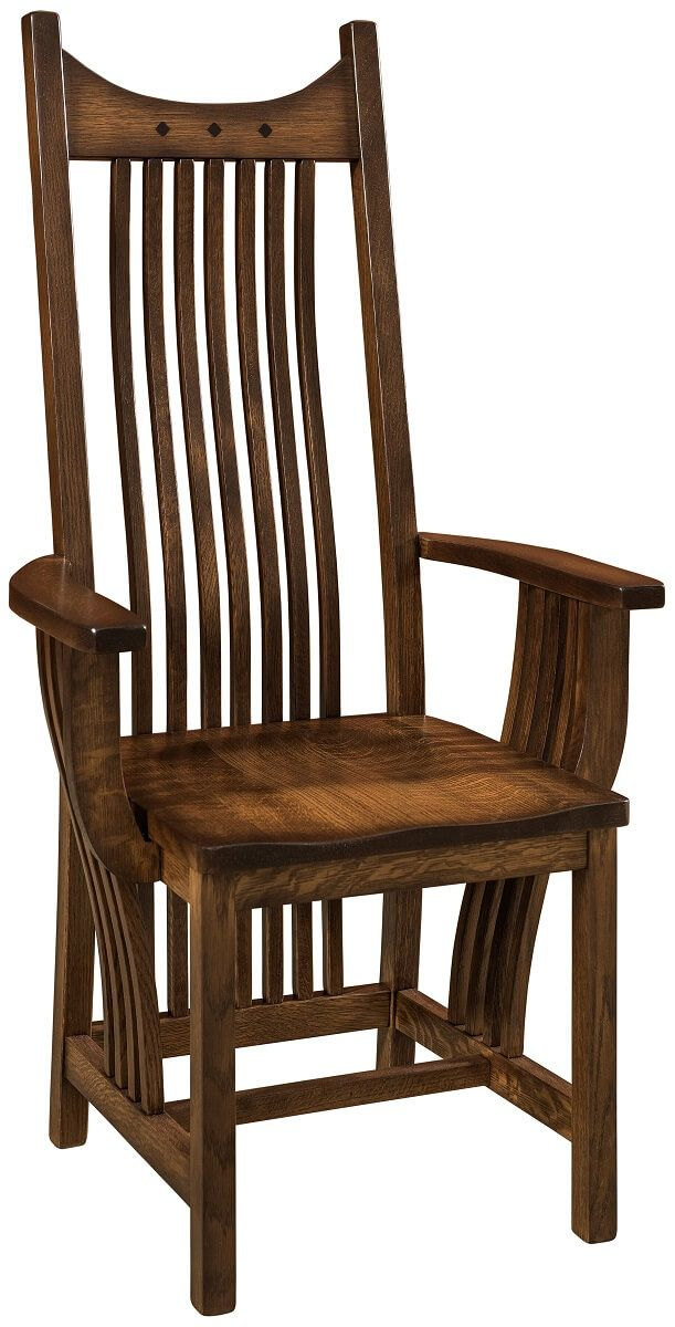 Hardwood Mission Style Dining Chair