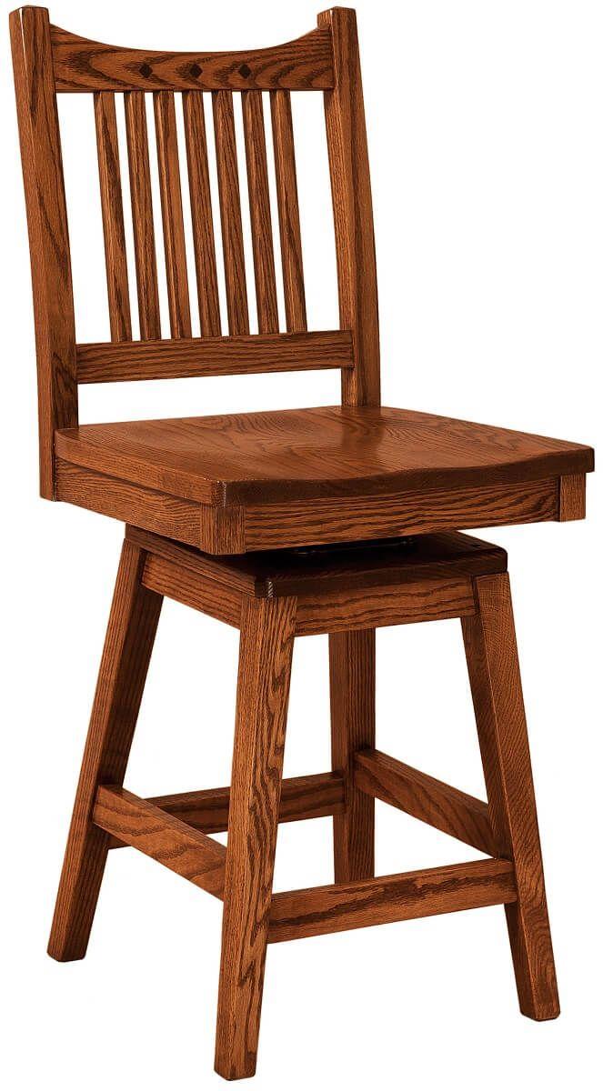 Laurel Mission Swivel Pub Chair