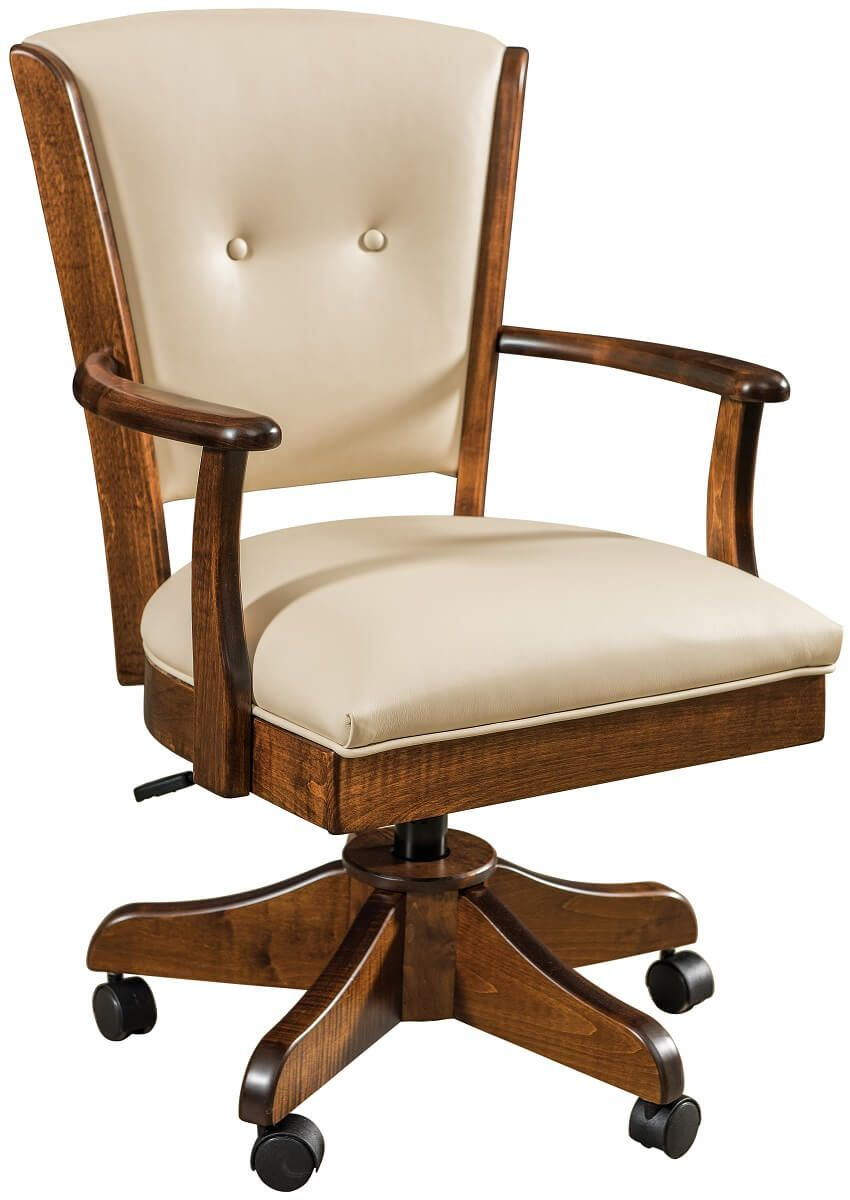 Macready Desk Chair with Leather