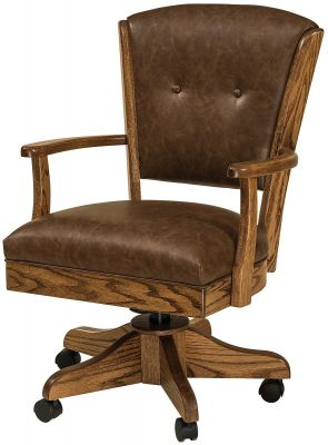 Leather Amish Made Office Chair