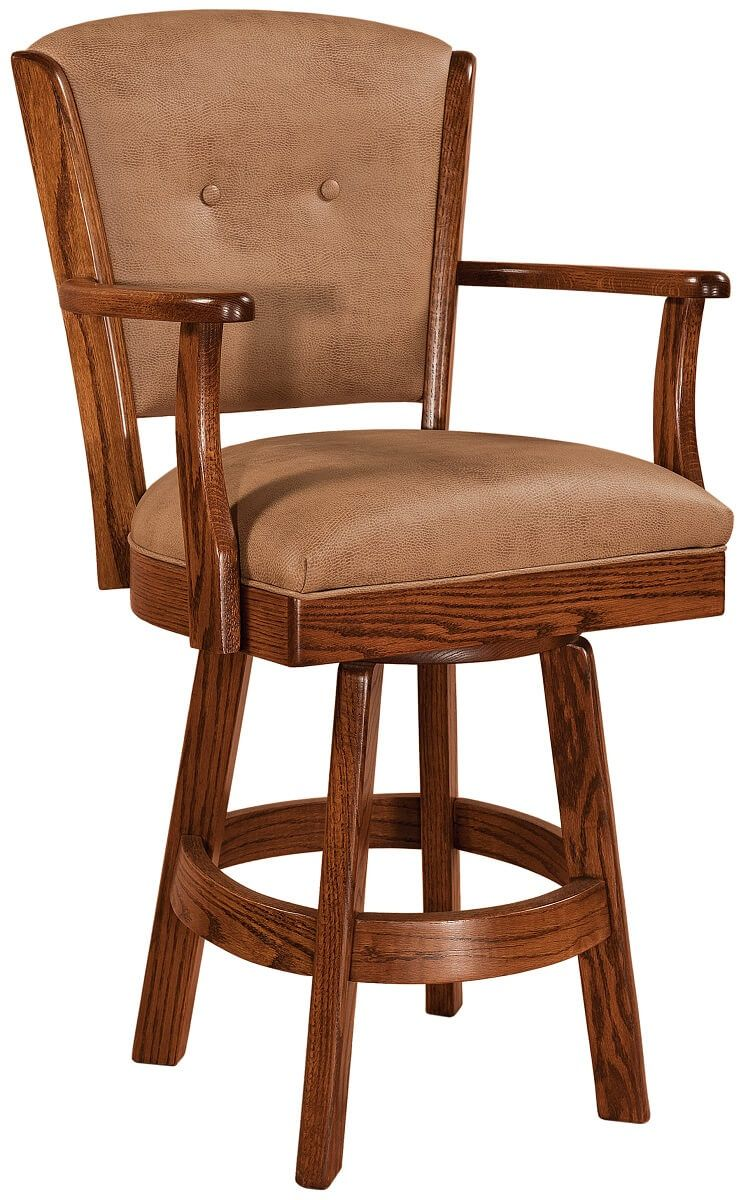 Macready Leather Bar Chair