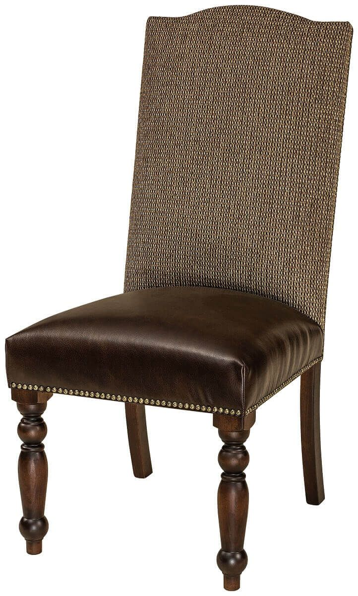 Leather and Fabric Dining Chair