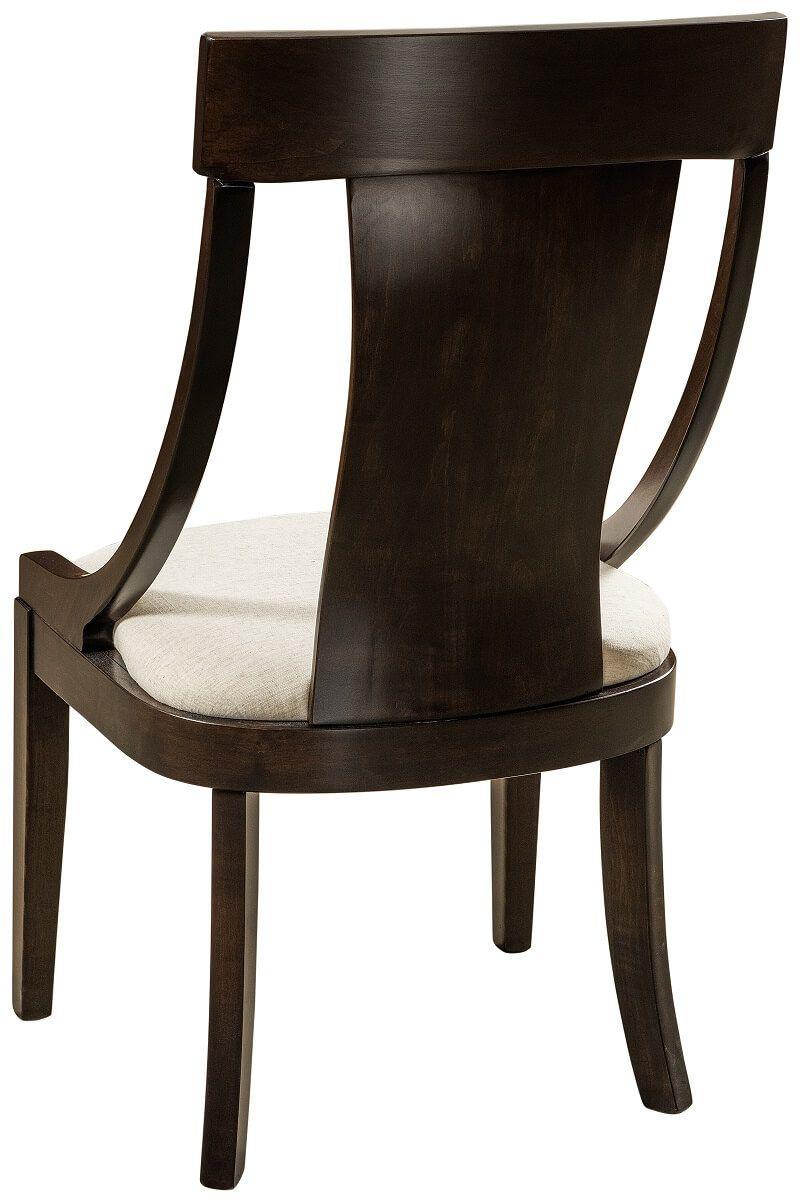 Brown Maple Modern Side Chair