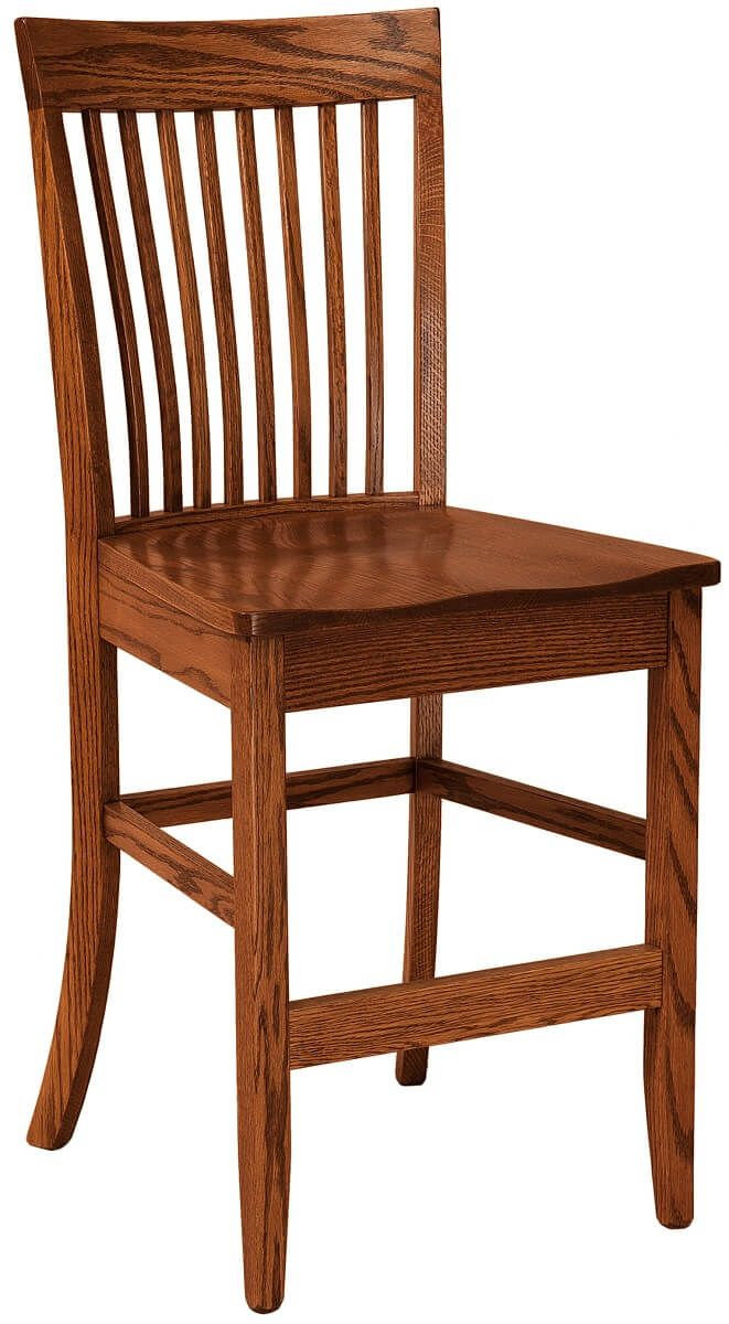 Mt. Laurel Counter Chair in Oak