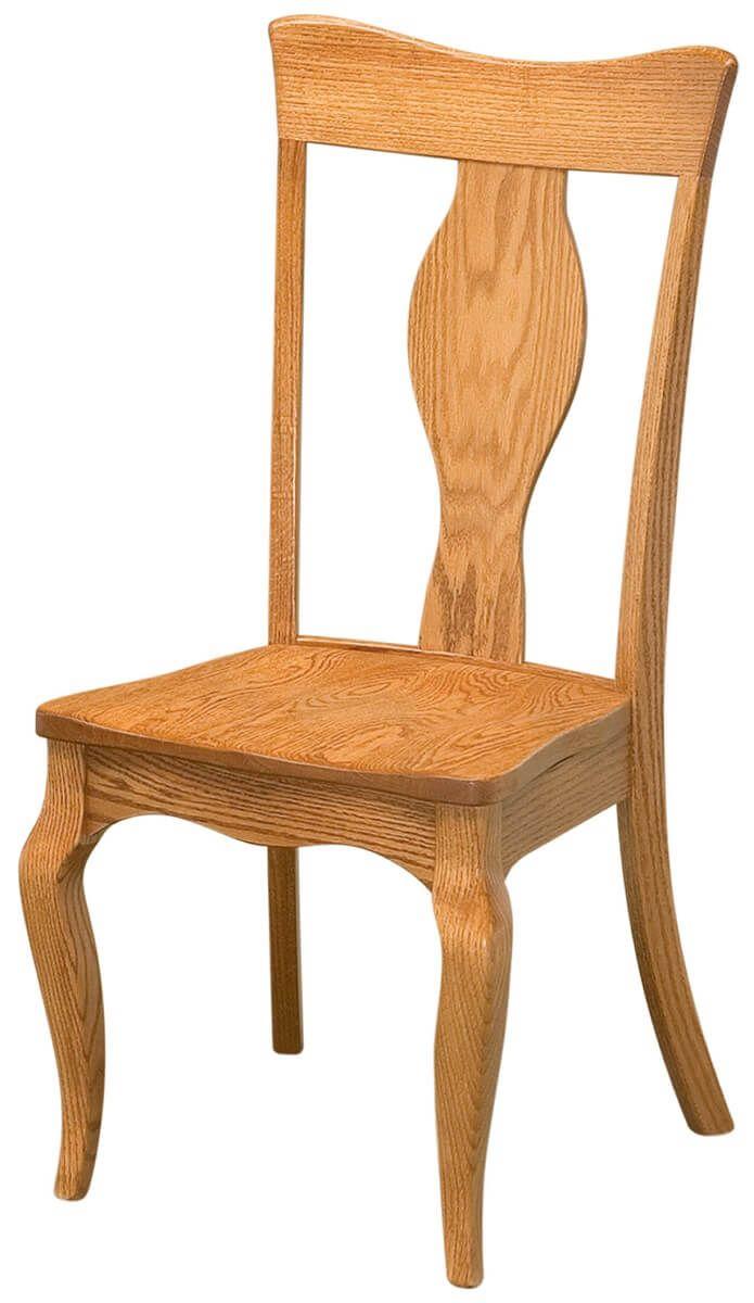 Formal Side Chair in Oak