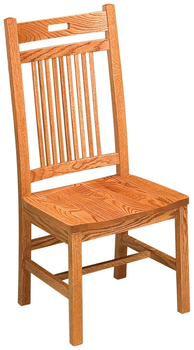Oak Mission Side Chair