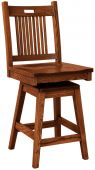 Sacramento Mission Swivel Barstool