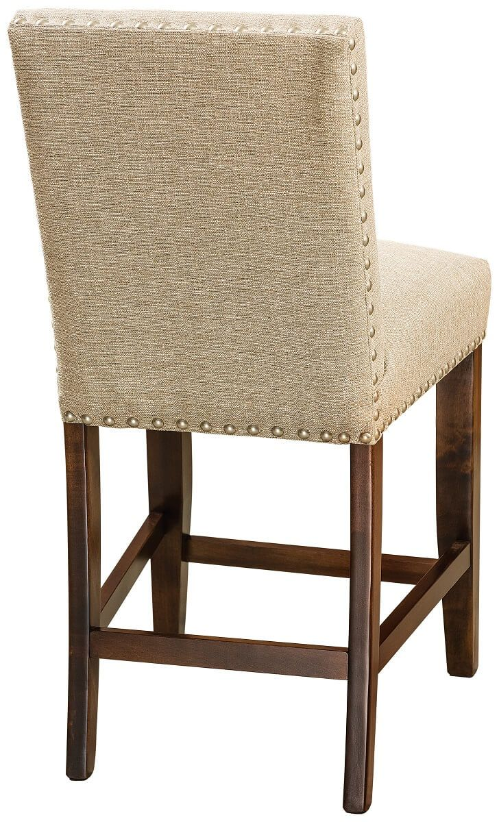 Salieri Upholstered Bar Chair Back Detail