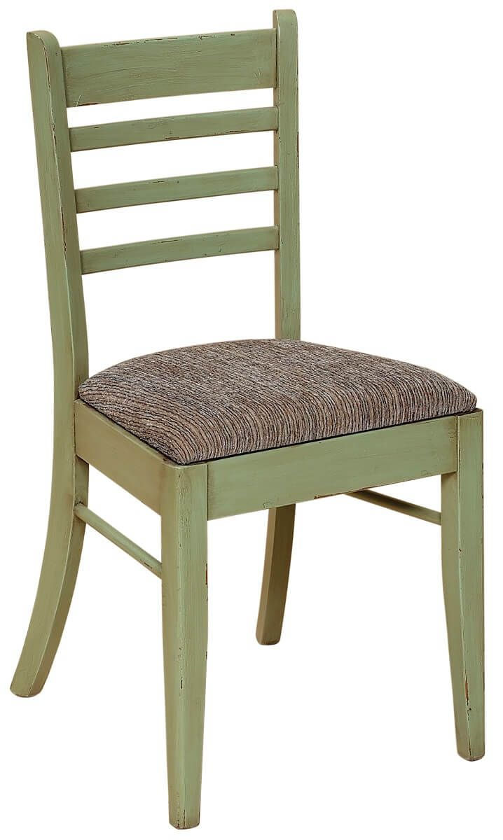 Amish Kitchen Chair with Fabric Seat