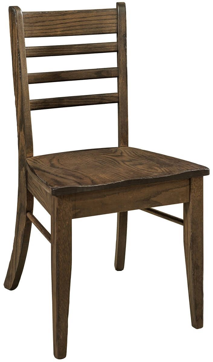 Rustic Oak Ladderback Dining Chair