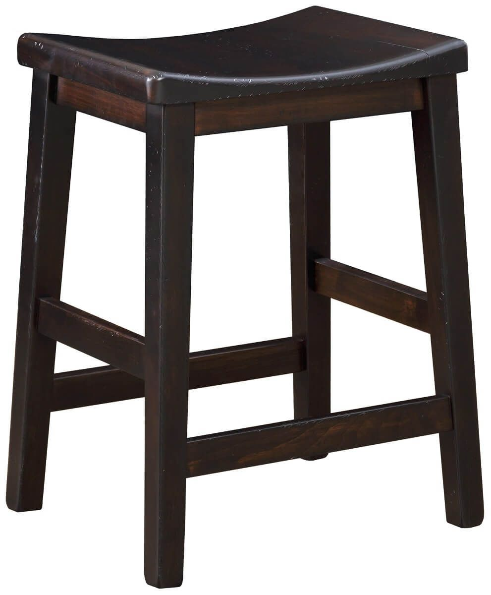 Backless Wooden Bar Stool