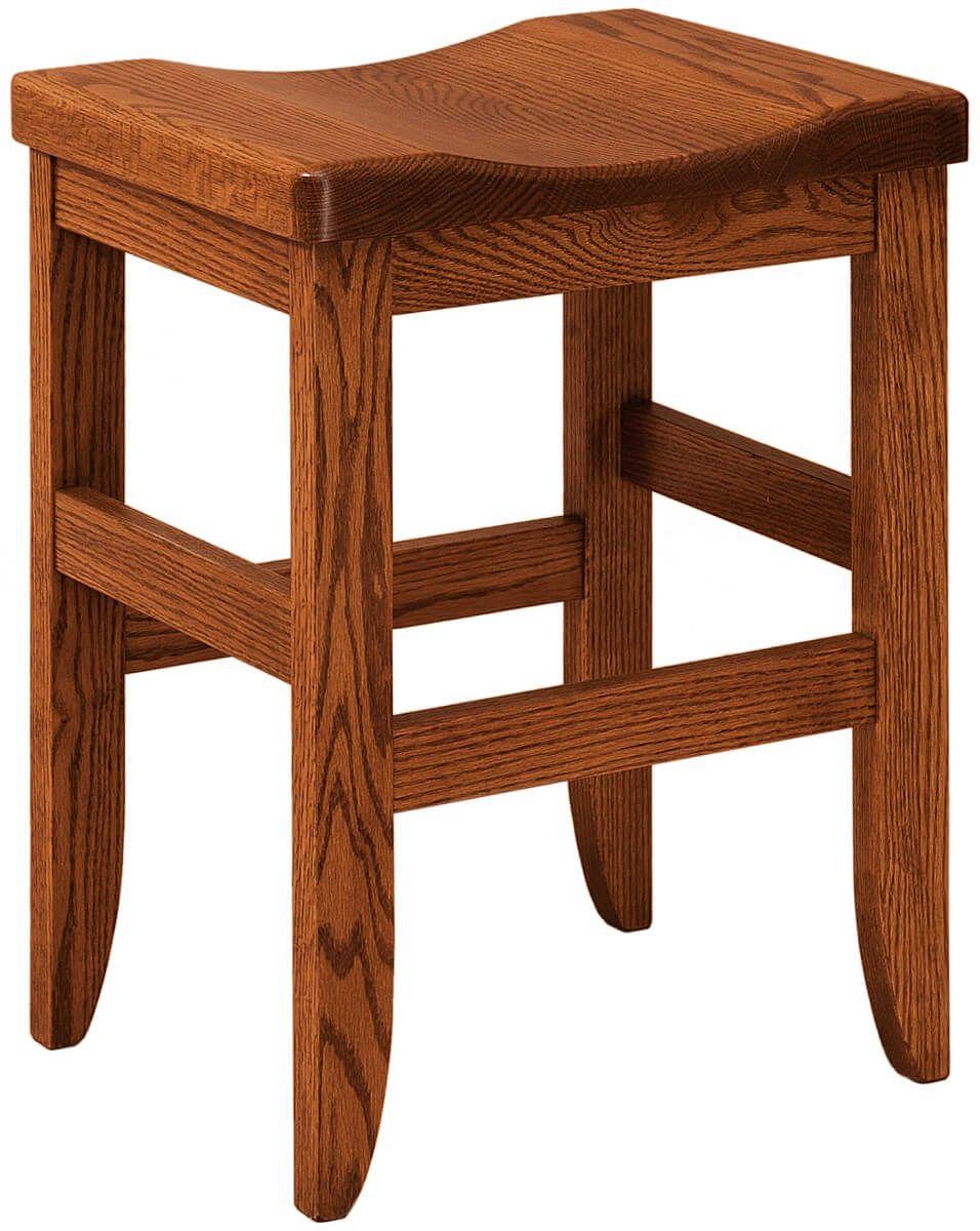 Sibbick Wooden Barstool in Oak