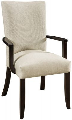 Modern Amish Made Upholstered Dining Chair