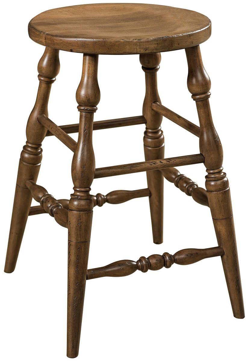 Thomas Scooped Hardwood Barstool