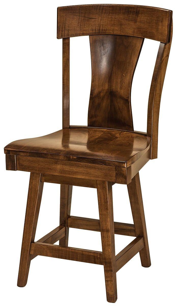 Vitra Swivel Bar Chair in Brown Maple