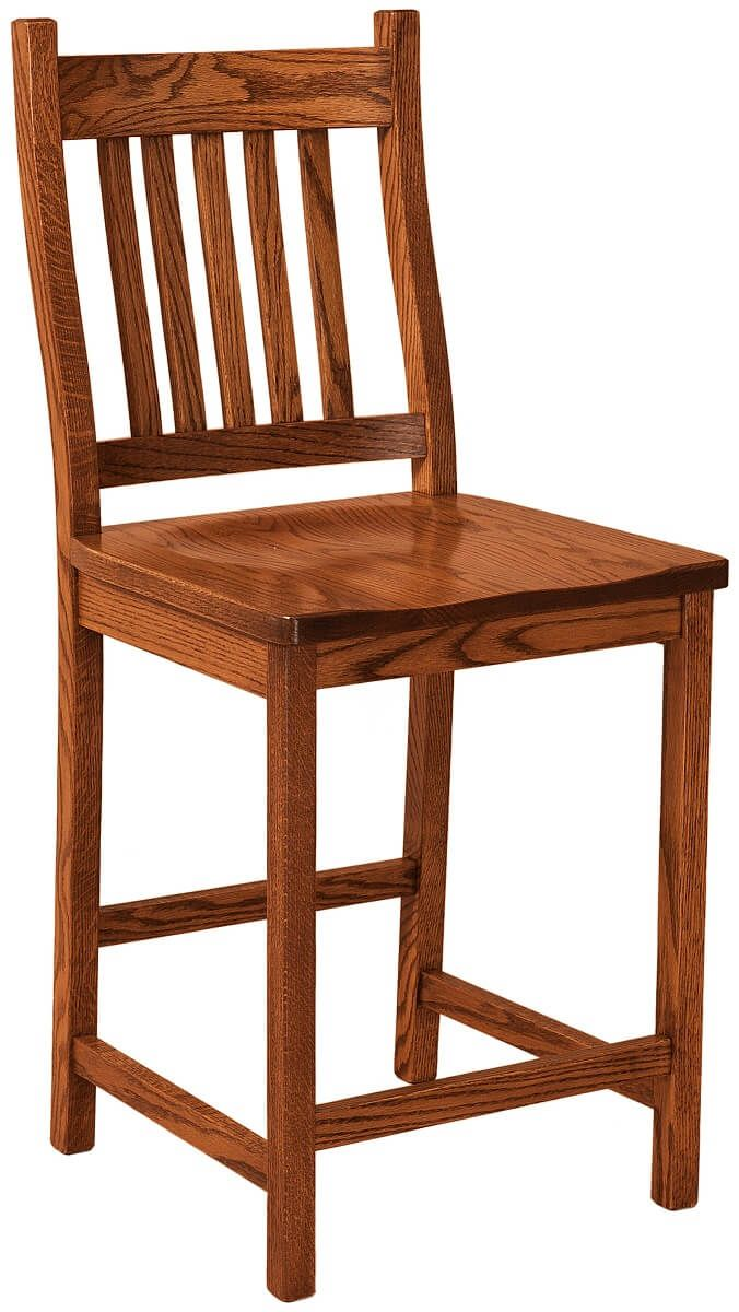 Woodside Mission Bar Chair in Oak