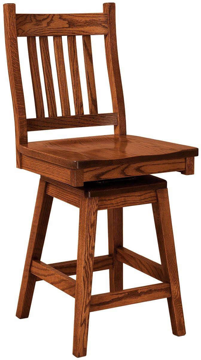 Woodside Swivel Bar Chair in Oak