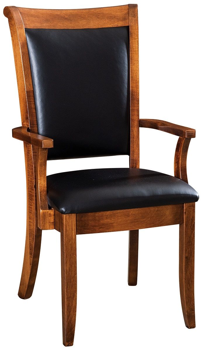 Upholstered Leather Arm Chair