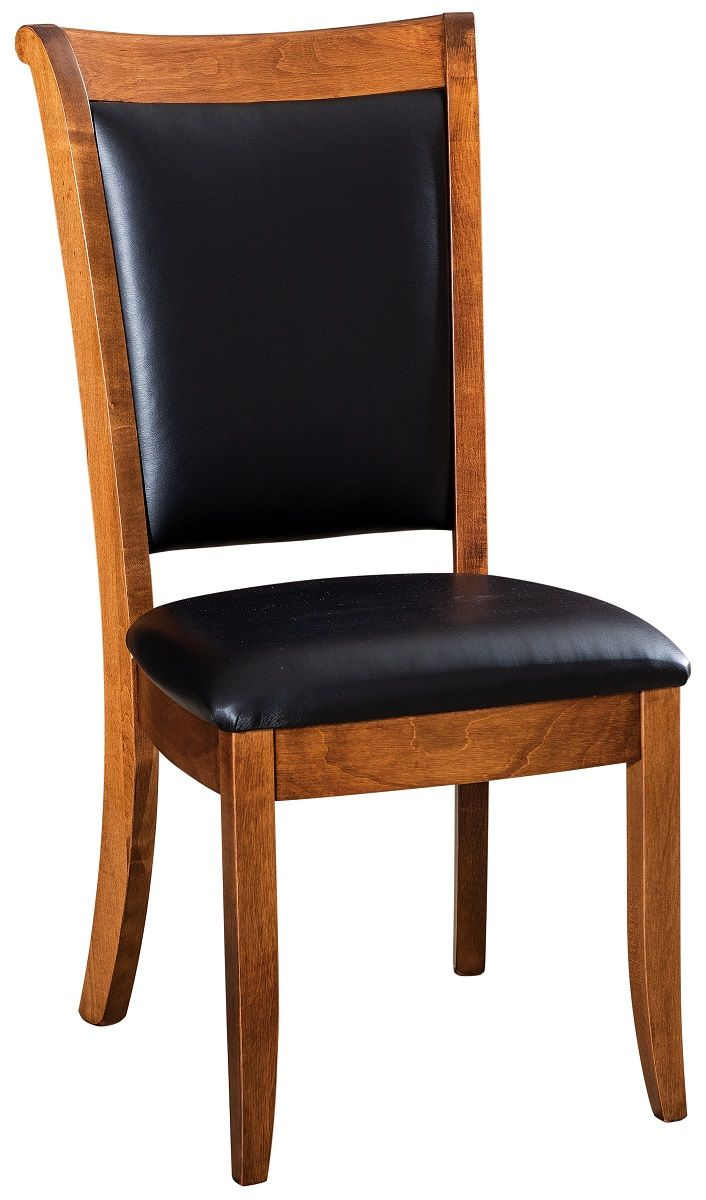 Upholstered Leather Side Chair