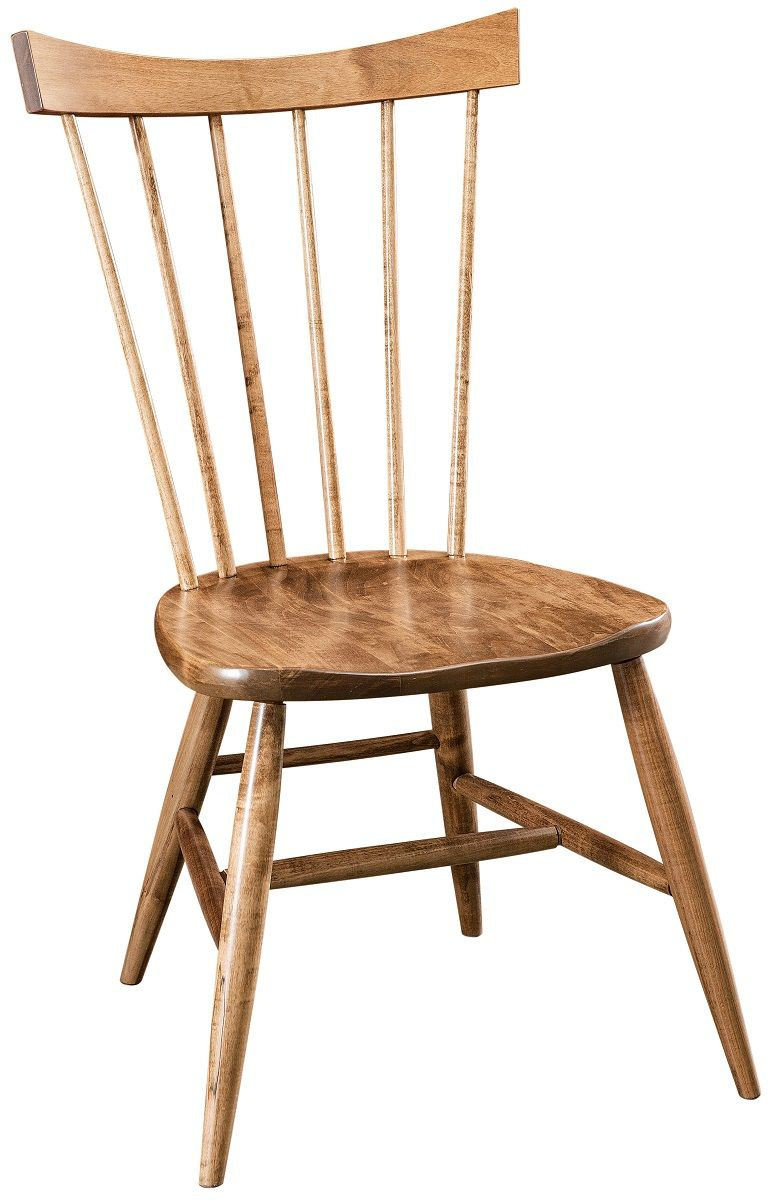 Brown Maple Shaker Dining Side Chair