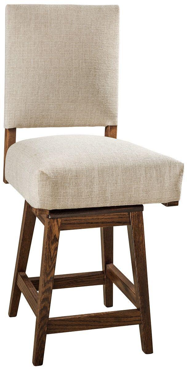 Hank Upholstered Swivel Pub Chair