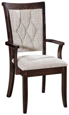 Upholstered Amish Made Arm Chair